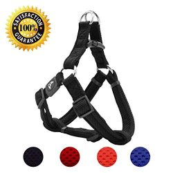 KRUZ PET KZA201-01L Fully Adjustable Step-in Puffy Mesh Harness, Large