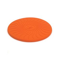 Play King Flying Disc, Safety Silicone Saucer, 10.75 Inch Dog Play Toy, Orange