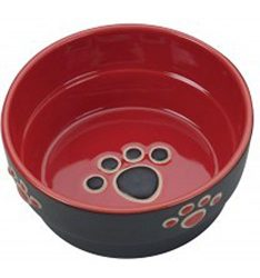 Ethical Pet Products (Spot) DSO6893 Fresco Stoneware Dog Dish, 5-Inch, Red