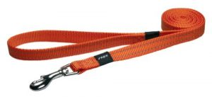 Reflective Dog Leash for Medium Dogs, 5/8″ wide, 6′ long, Orange