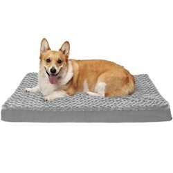 FurHaven Pet Dog Bed | Deluxe Cooling Gel Memory Foam Orthopedic Ultra Plush Mattress Pet Bed for Dogs & Cats, Gray, Large