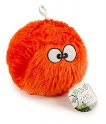 goDog Furballz Tough Plush Dog Toy with Chew Guard Technology, Orange, Large