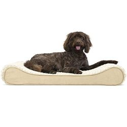 FurHaven Pet Dog Bed | Orthopedic Ultra Plush Luxe Lounger Pet Bed for Dogs & Cats, Cream, Large