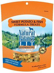 Natural Balance L.I.T. Limited Ingredient Dog Treats, Grain Free, Sweet Potato & Fish Formula, 14-Ounce