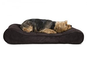 FurHaven Pet Dog Bed | Orthopedic Microvelvet Luxe Lounger Pet Bed for Dogs & Cats, Espresso, Medium