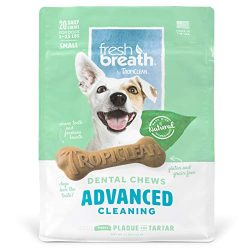 Tropiclean Fresh Breath Advanced Cleaning Dental Chews For Small Dogs, 20 Count, New Formula