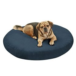 PawTex Premium Round Dog Bed, 40″, Blue