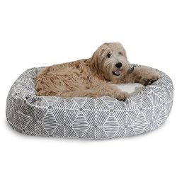 Majestic Pet 32″ Charlie Gray Sherpa Bagel Bed