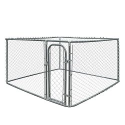 ALEKO DK10X10X6 Pet System DIY Box Kennel Chain Link Dog Kennel Playpen Chicken Coop Hen House 10 x 10 x 6 Feet