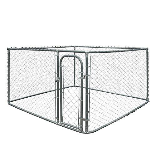 ALEKO DK10X10X6 Pet System DIY Box Kennel Chain Link Dog Kennel Playpen Chicken Coop Hen House 10 x 10 x 6 Feet
