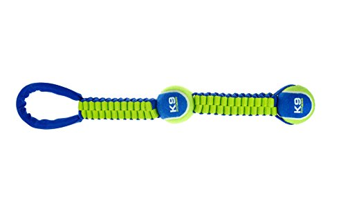 ZEUS K9 Fitness Dog Toys Tennis Ball Ballistic, Tough Nylon Construction Works for Playing Fetch or Tug
