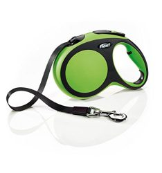 Flexi New Comfort Retractable Dog Leash (Tape), 16 ft, Large, Green