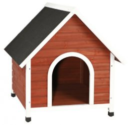 Trixie Pet Products Nantucket Dog House, Medium, Brown/White