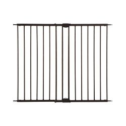 North States MyPet 47.8″ Windsor Walk-Thru Petgate: Heavy duty metal construction. Hardware Mount. Fits 28.68″-47.85″ wide (31″ tall, Matte Bronze)