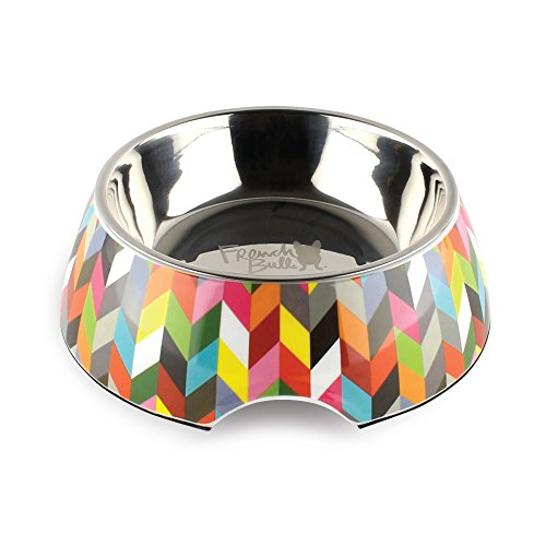 French Bull 12 oz. Pet Bowl, 2 Piece – Dog, Cat, Feeder, Nonslip, Stainless Steel, Raised – Ziggy