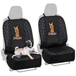 BDK 2SD20 2 Scooby-Doo Seat Cover for Car SUV & Truck-100% Waterproof Protection, Double Padded, Front Pocket (2PC)