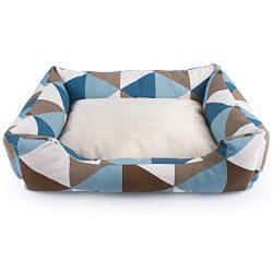 Petper Pet Self Warming Bed, Dog Sofa Net Sleeping Bad Classic Square Shape, Medium