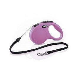 Flexi New Classic Retractable Dog Leash (Cord), 16 ft, Small, Pink