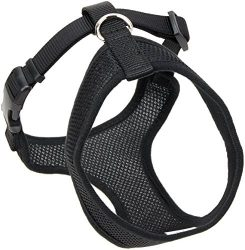Coastal  Comfort Soft Adjustable Dog Dog Harness – Black Small For Dogs 11-18 lbs