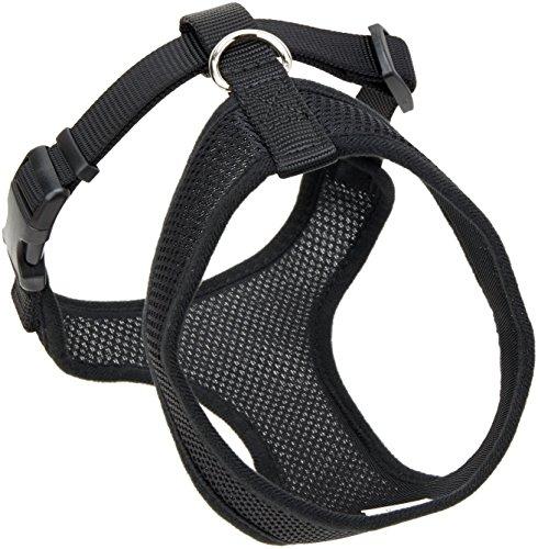 Coastal  Comfort Soft Adjustable Dog Dog Harness – Black Small For Dogs 11-18 lbs