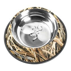 Browning Stainless Steel Pet Dish, Large, Shadow Grass Blades