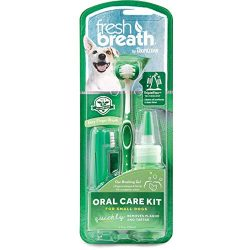 Fresh Breath by TropiClean Oral Care Kit for Pets, Small, Made in USA