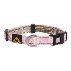 Browning Classic Camo Dog Collar | Realtree Xtra Pink | Medium