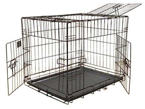 GoPetClub 3-Door Metal Pet Crate, 24-Inch