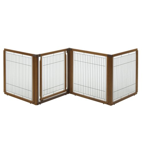 Richell 3-in-1 Convertible Elite Pet Gate, 4-Panel