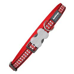 Red Dingo Reflective Dog Collar, Small, Red