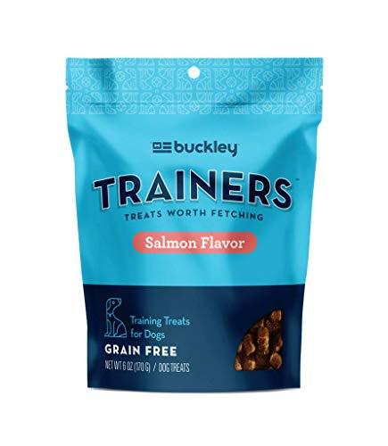 Buckley Trainers All-Natural Grain-Free Dog Training Treats, Salmon, 6 oz