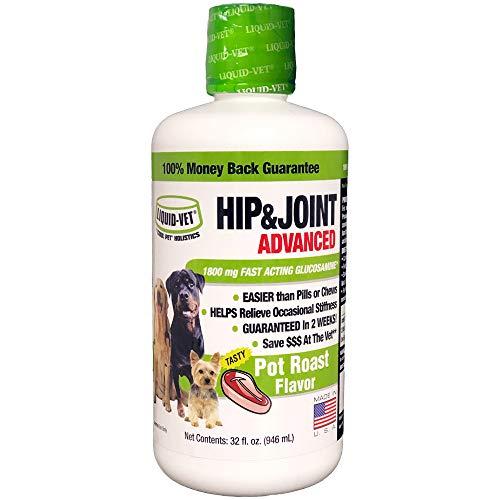 Liquid-Vet by Cool PET Holistics LVDJA-PR-04PK-32U Hip & Joint Dog Joint Supplement, 32 oz