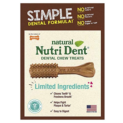 Nutri Dent Limited Ingredient Dental Dog Chews, Large (up to 50 lbs)