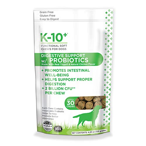 K-10+ Digestive Support With Probiotics Supplement Functional Soft Chews For Dogs – 30 Ct. Pouch