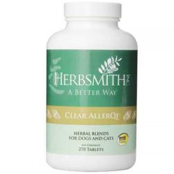Herbsmith Clear Allerqi – Allergy Aid for Cats & Dogs – Pet Allergy Support – Anti Itch Pills for Dogs & Cats – 270 Tablet
