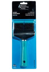 Master Grooming Tools Double-Sided Hard Flexible Slicker Brushes — Versatile Brushes for Grooming Dogs – Green, 8″L x 4″W
