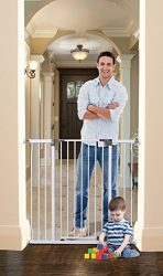 Dreambaby Liberty Tall Auto Close Security Gate w/Stay Open Feature (39-42.5 inches, White)
