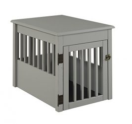 BarkWood Pet Crate End Table – Grey Finish