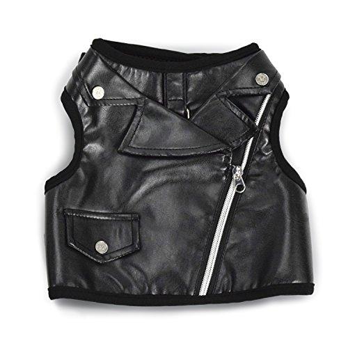 Martha Stewart Moto Style Comfort Harness For Dogs Black