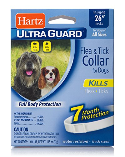 Hartz UltraGuard Flea & Tick Collar for Dogs and Puppies – 26″ Neck, 7 Month Protection