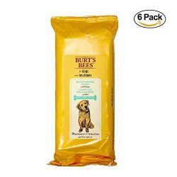 Burt's Bees For Dogs Multipurpose Grooming Wipes | Puppy and Dog Wipes For Cleaning, 50 Count – 6 Pack