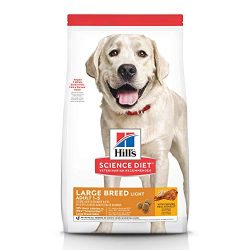 Hill's Science Diet Dry Dog Food, Adult, Large Breeds, Light, Chicken Meal & Barley Recipe for Healthy Weight & Weight Management, 15 lb Bag