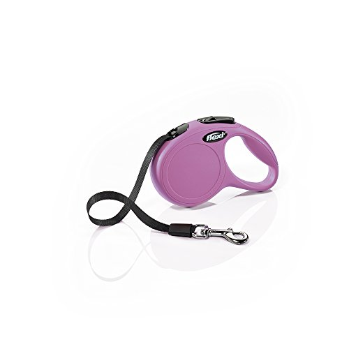 Flexi New Classic Retractable Dog Leash (Tape), 10 ft, Extra Small, Pink