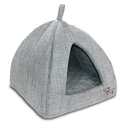 Best Pet Supplies Linen Tent Bed for Pets – Grey, X-Large