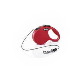 Flexi New Classic Retractable Dog Leash (Cord), 10 ft, Extra Small, Red