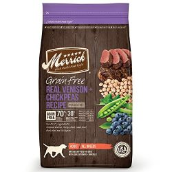 Merrick Grain Free Real Venison & Chickpeas Recipe Dry Dog Food , 22 Lbs.