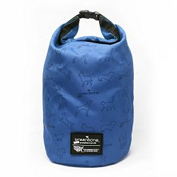 The Humane Society 35257BL Nylon Self Folding Travel Food Bag, Blue, One Size