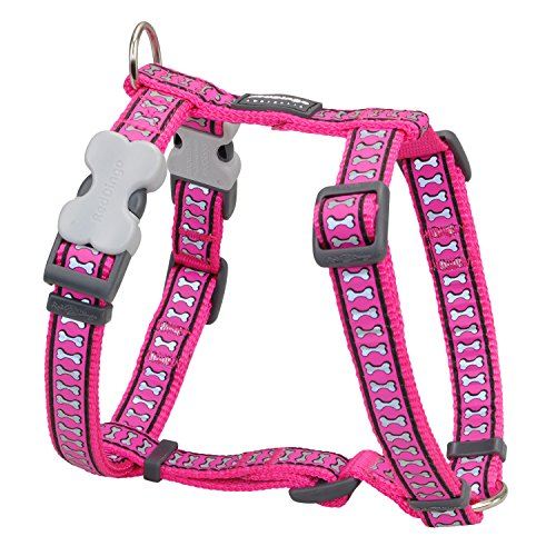 Red Dingo Reflective Dog Harness, Small, Hotpink