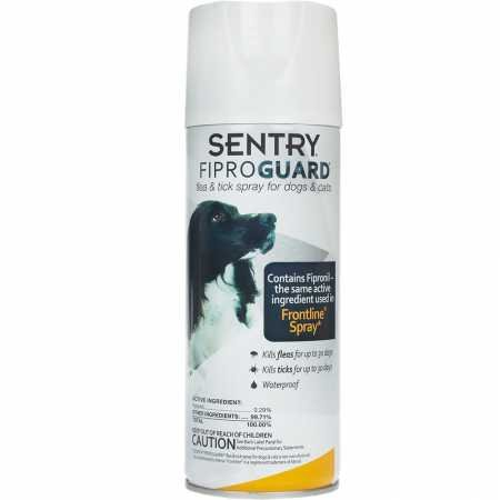 SENTRY Fiproguard Flea and Tick Spray for Dogs and Cats, 6.5 oz