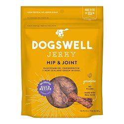 DOGSWELL Hip & Joint 100% Meat Dog Treats, Grain Free, Glucosamine Chondroitin & Omega 3, Duck Jerky 10 oz